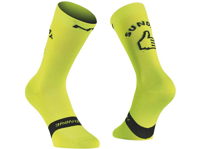 Northwave Sunday Monday Chaussettes, lime fluo